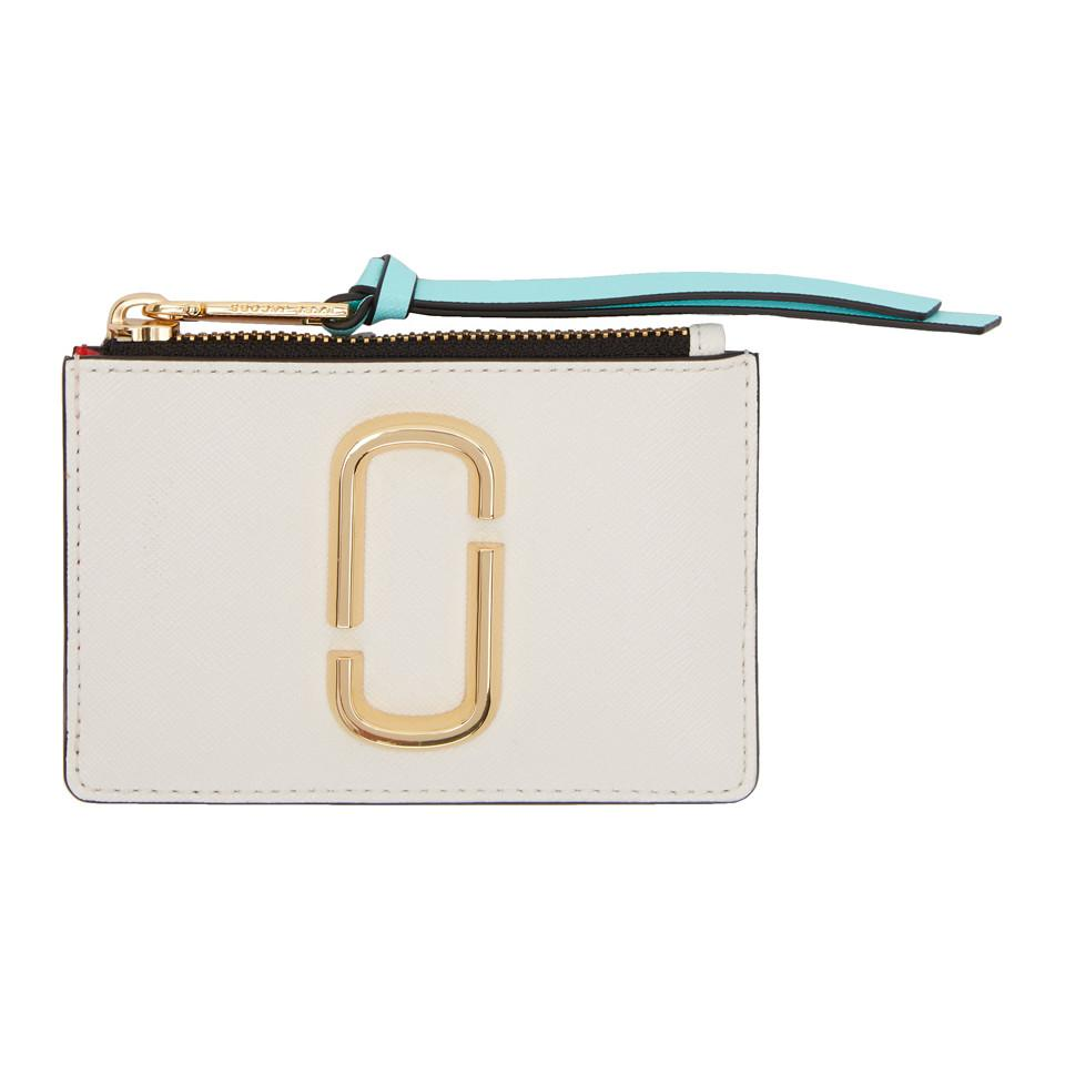 White and Red Snapshot Top Zip Multi Card Holder Marc Jacobs TMQ9KDCV