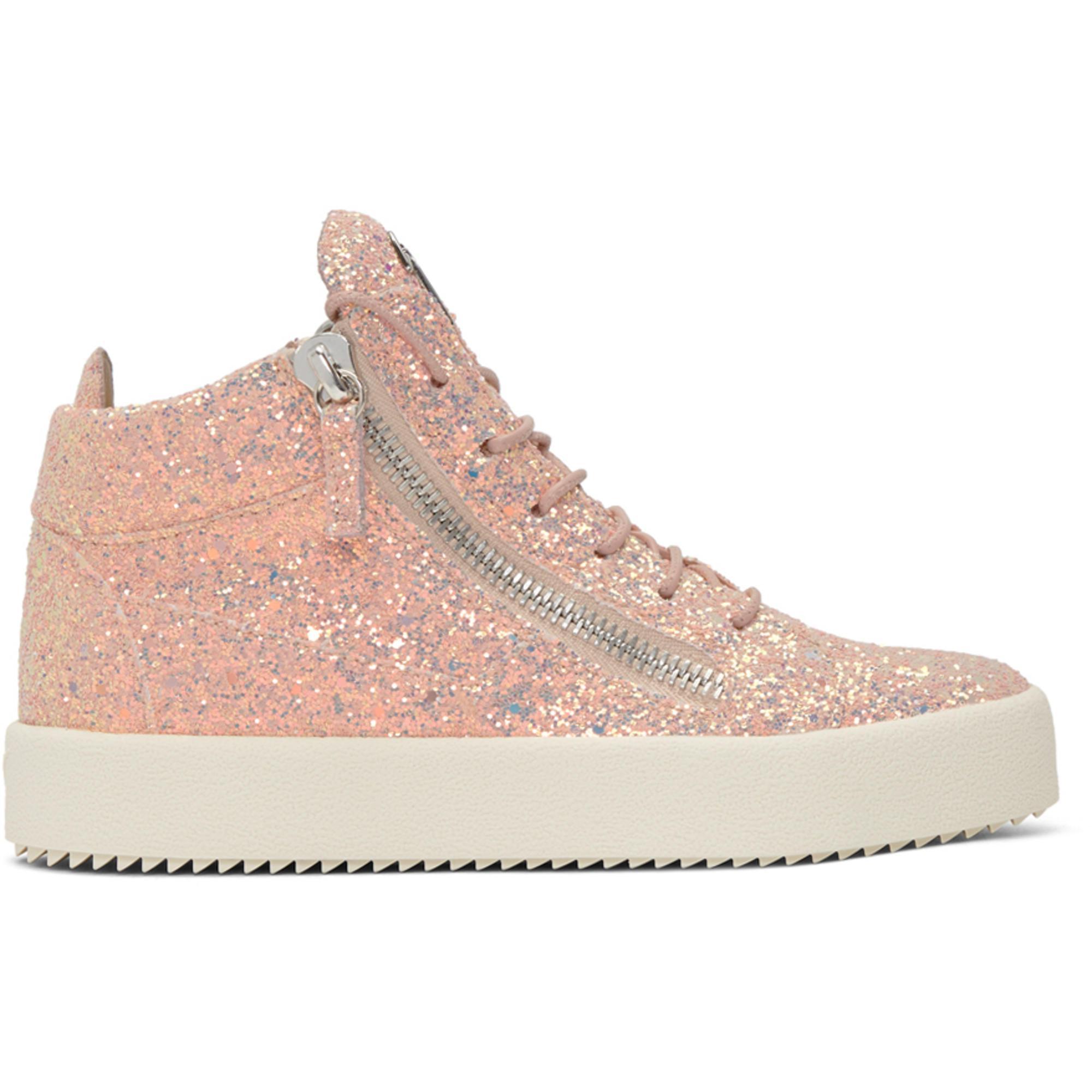 2cc586ba8e810 Lyst - Giuseppe Zanotti Ssense Exclusive Pink Glitter May London ...