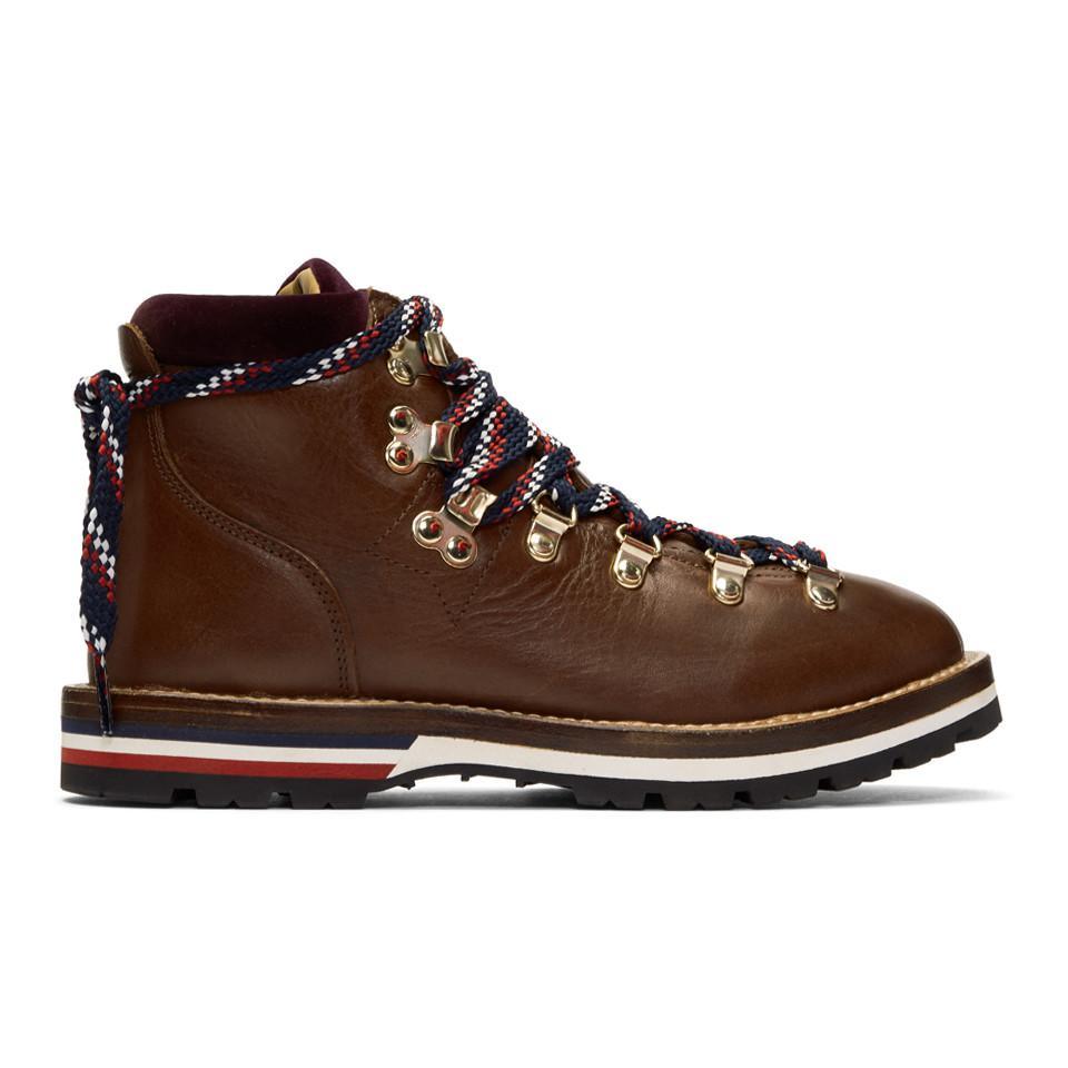 Moncler Leahter & Velvet Hiking Boots p2hqdOXT