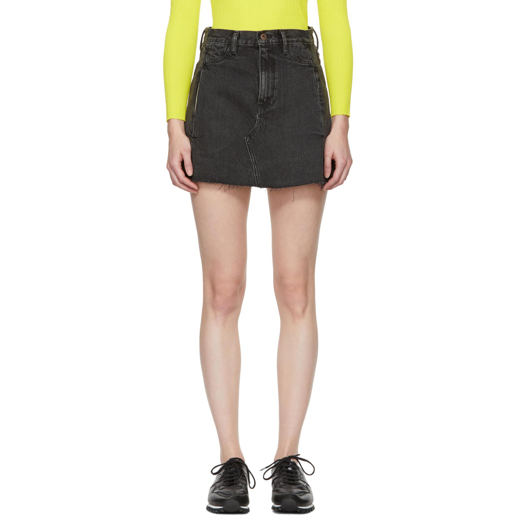 Black Nashua Denim Miniskirt Simon Miller Discount Really Discount Amazing Price Cheap Fashionable Cheapest Price gHzNfX
