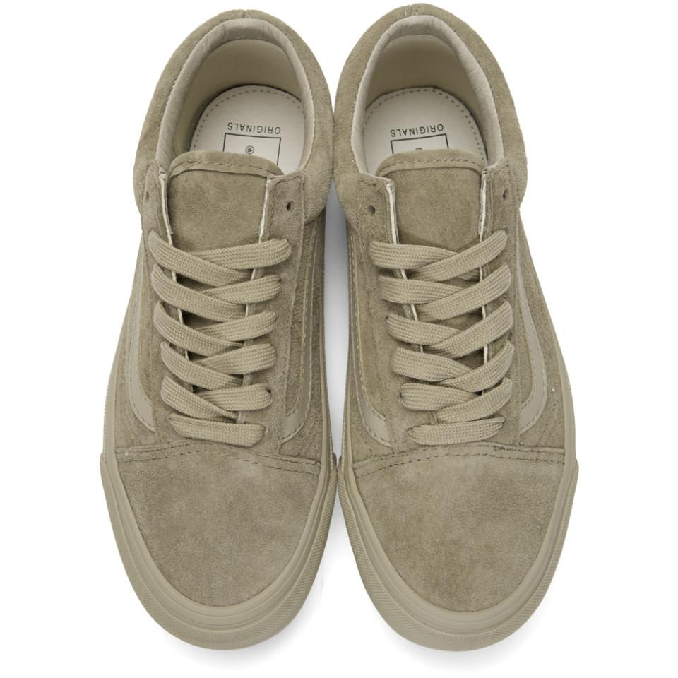 22629c0ec5 Lyst - Vans Taupe Og Old Skool Lx Sneakers for Men