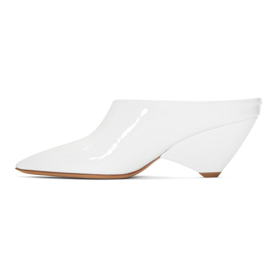 Maison Margiela White Deal Heel Mules tkvy0