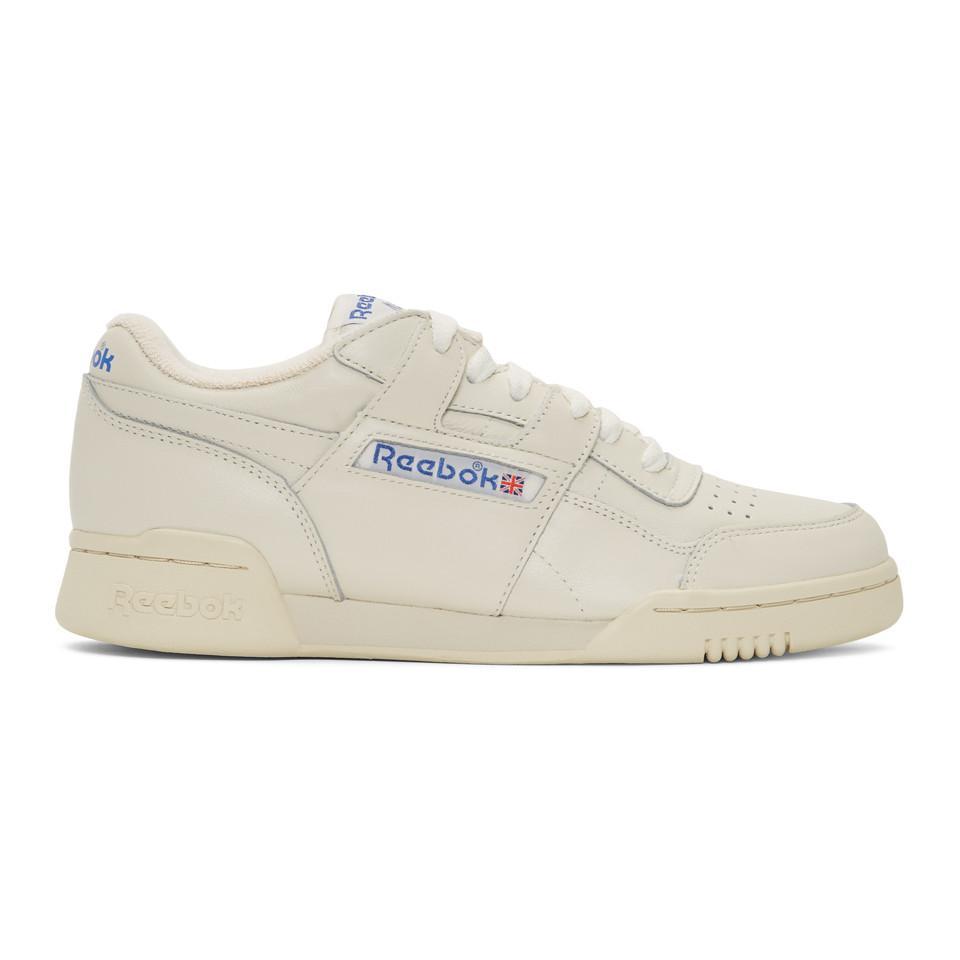 90c4d6fcba9ca Lyst Reebok White Workout Plus 1987 Tv Sneakers In For Men