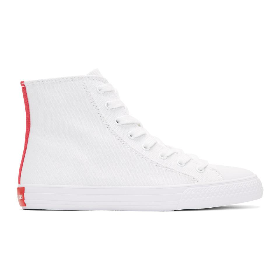 Calvin Klein 205W39NYC White Constantine 135 High-Top Sneakers