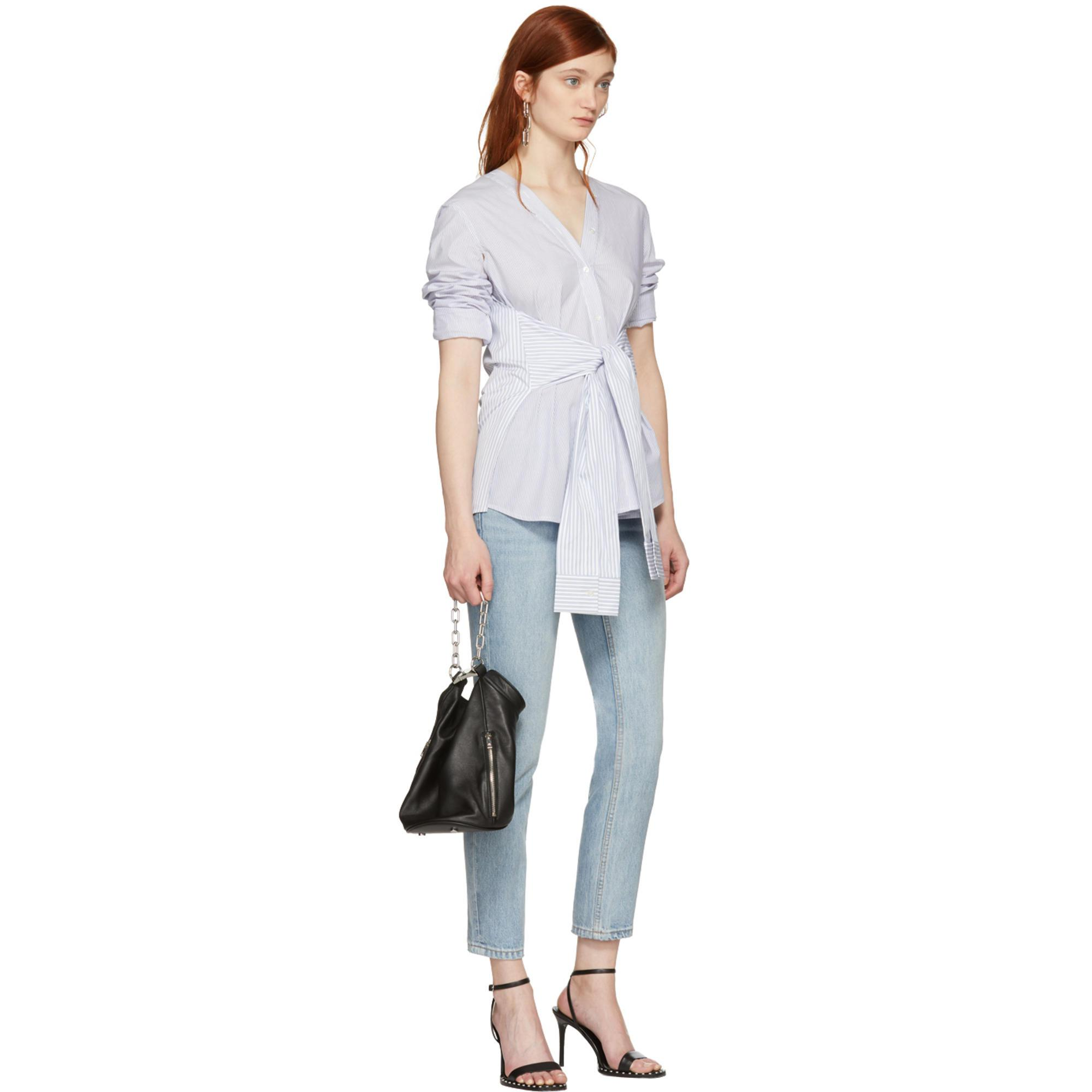 Sale Websites White and Blue Multi Stripe Tie Shirt Alexander Wang Clearance Pre Order Discount Codes Shopping Online Clearance Manchester Great Sale wsPzPjnJ