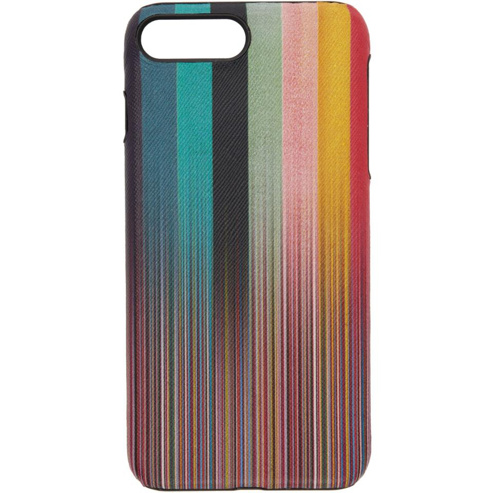 outlet store 1317f ae8f1 Lyst - Paul Smith Multicolor Striped Iphone 8 Case for Men
