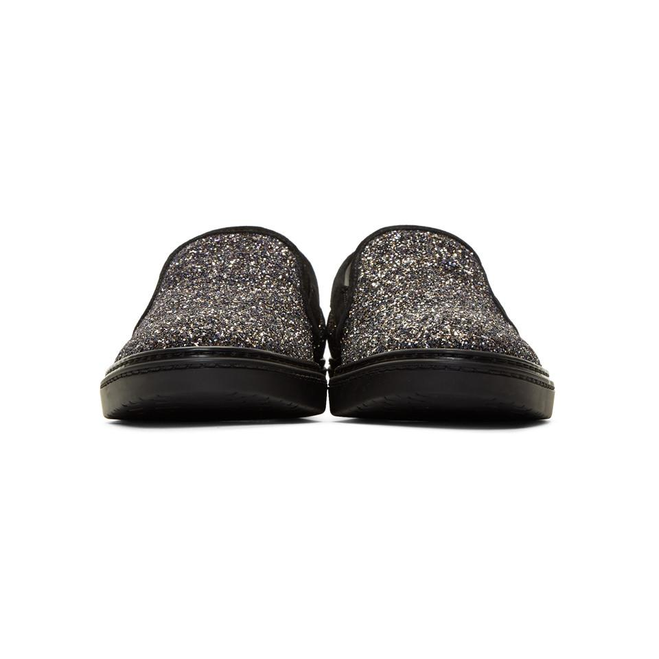 Jimmy chooMulticolor Glitter Grove Slip-On Sneakers 1k0bXYuBg