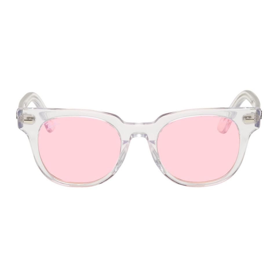 659dfc880c28e Ray-Ban Transparent And Pink Meteor Evolve Sunglasses for Men - Lyst