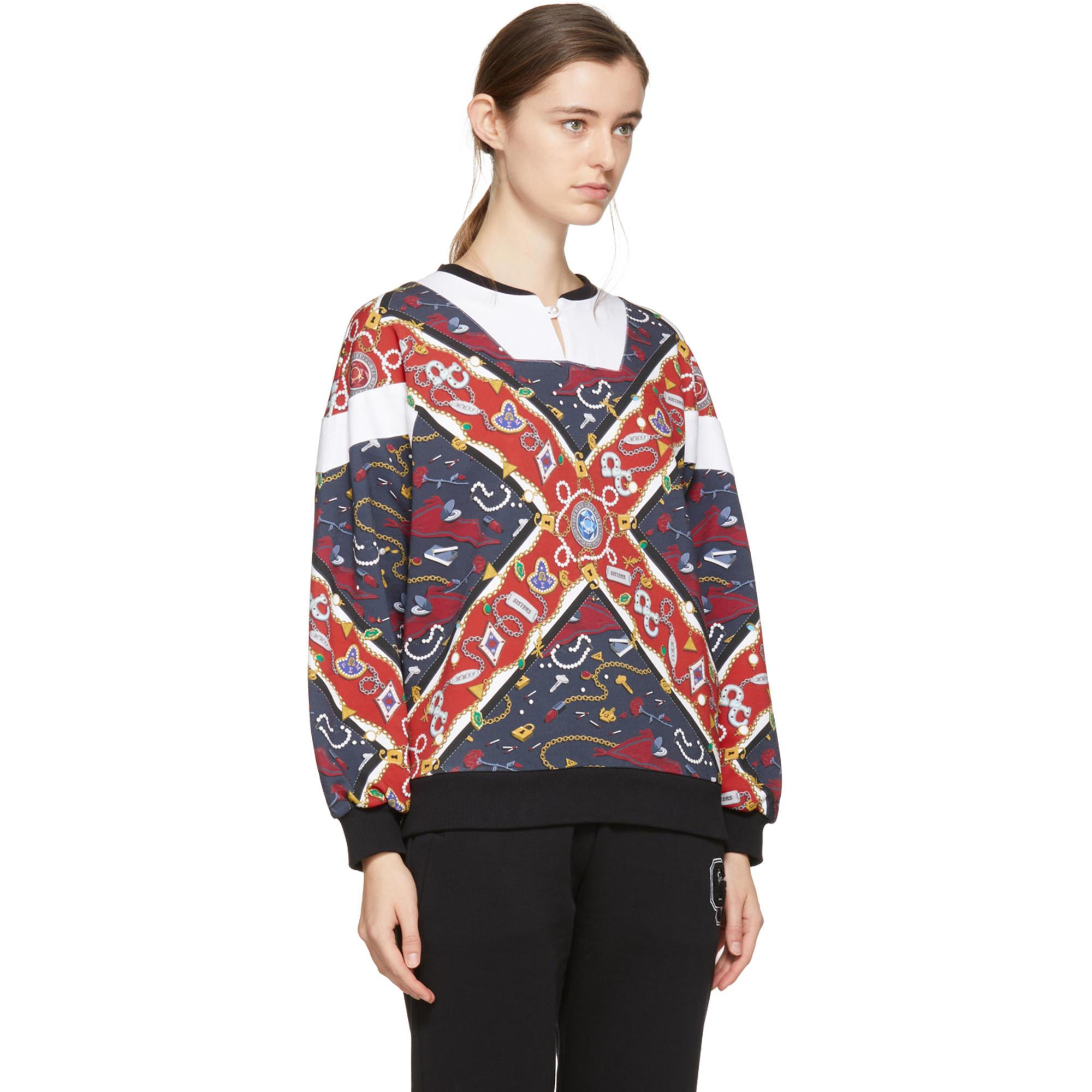 Reversible Multicolor Sorority Scarf Sweatshirt Opening Ceremony With Mastercard Cheap Online TwnGLKCJ