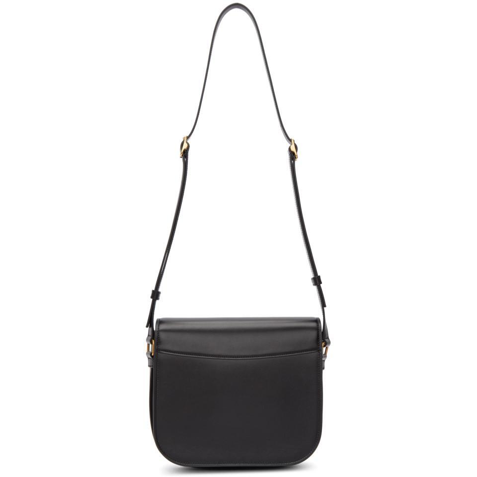 811c9f05489f Saint Laurent Black Nappa Betty Messenger Bag in Black - Lyst