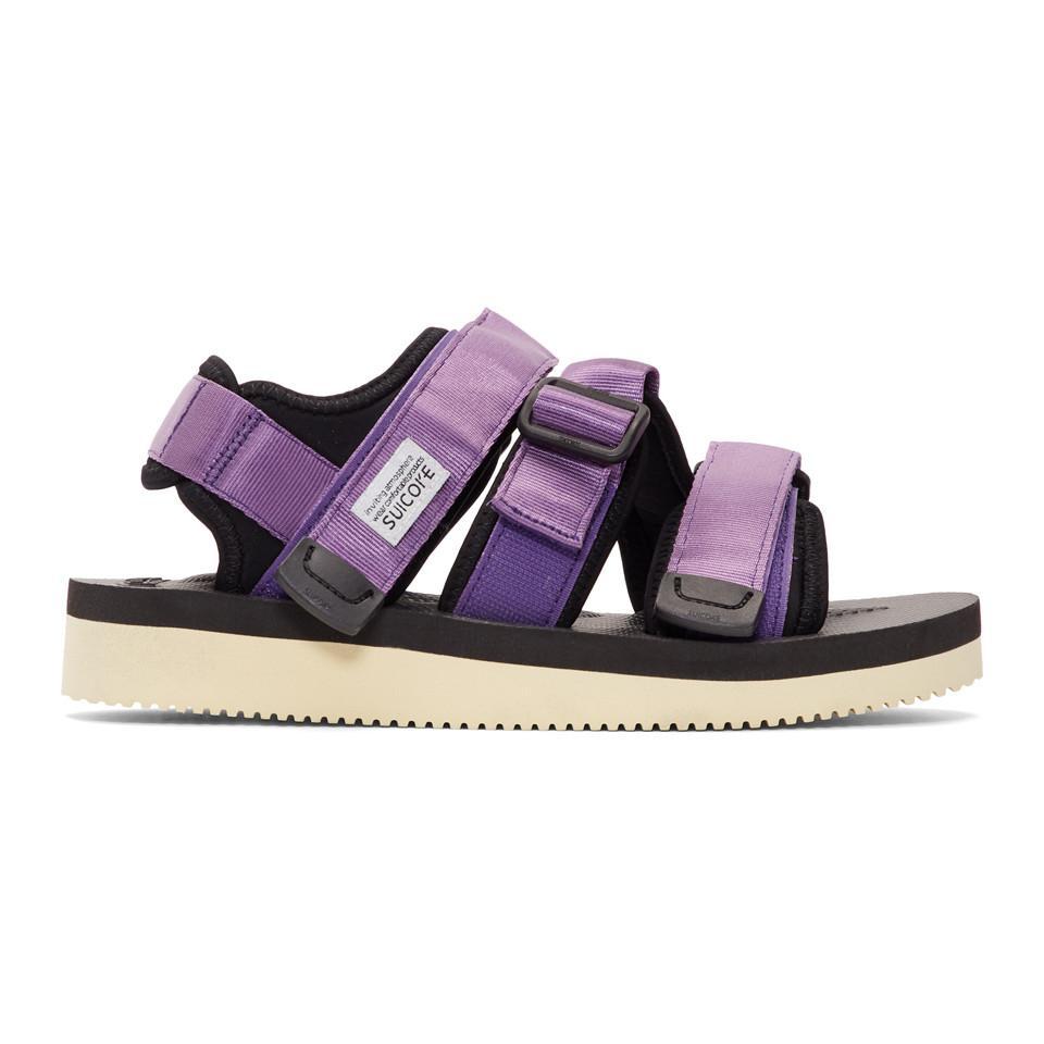 d1e7af20c2c4 Suicoke Ssense Exclusive Purple Kisee-v Sandals in Purple for Men - Lyst