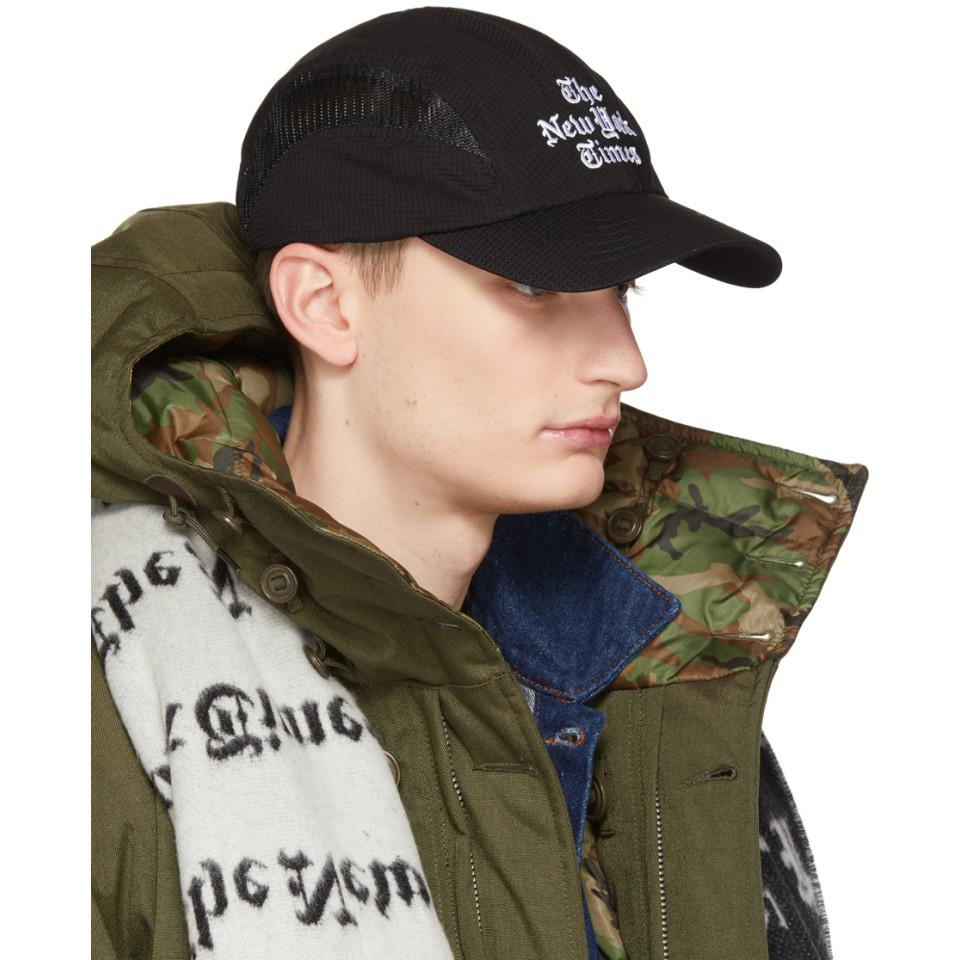 Lyst - Etudes Studio Zone New York Times Cap in Black 53af3b2f46e