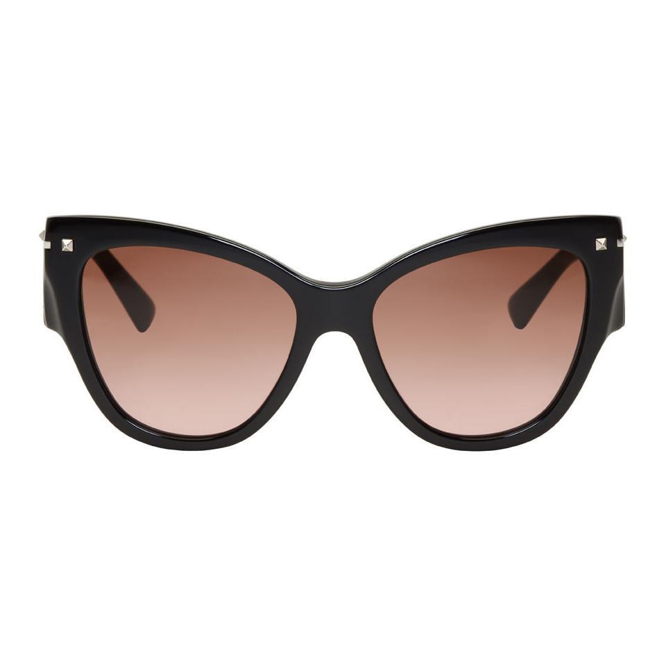 Valentino Garavani Cat-eye Acetate Sunglasses - Black Valentino lKhprcQ1Z