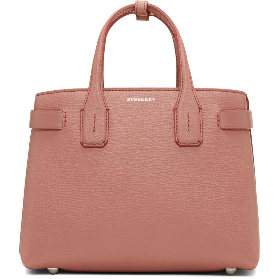 Burberry Pink Small Banner Structured Tote in Pink - Lyst b9cbdcc0f9d51