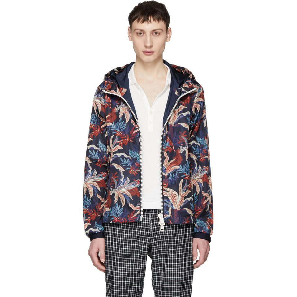 Moncler. Men's Blue Multicolour Maribeu Jacket
