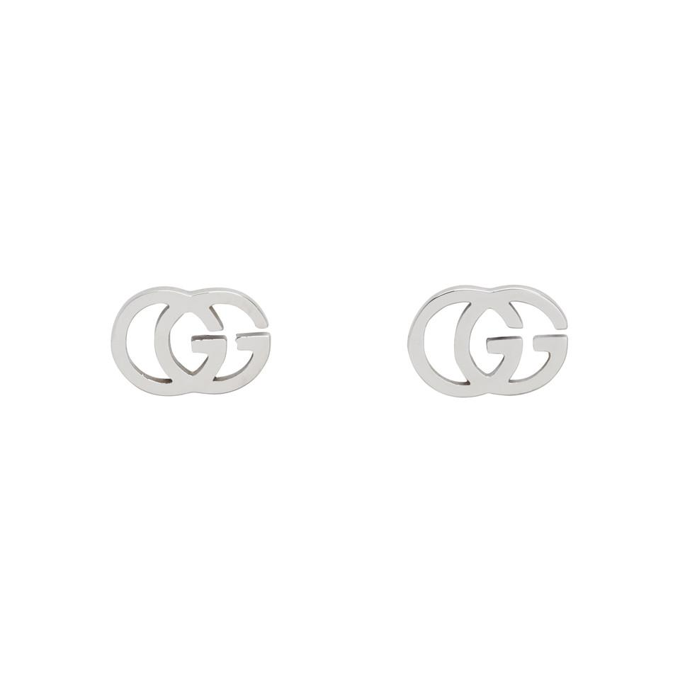 Gucci Silver GG Tissue Stud Earrings in Metallic - Lyst 373d7bc841