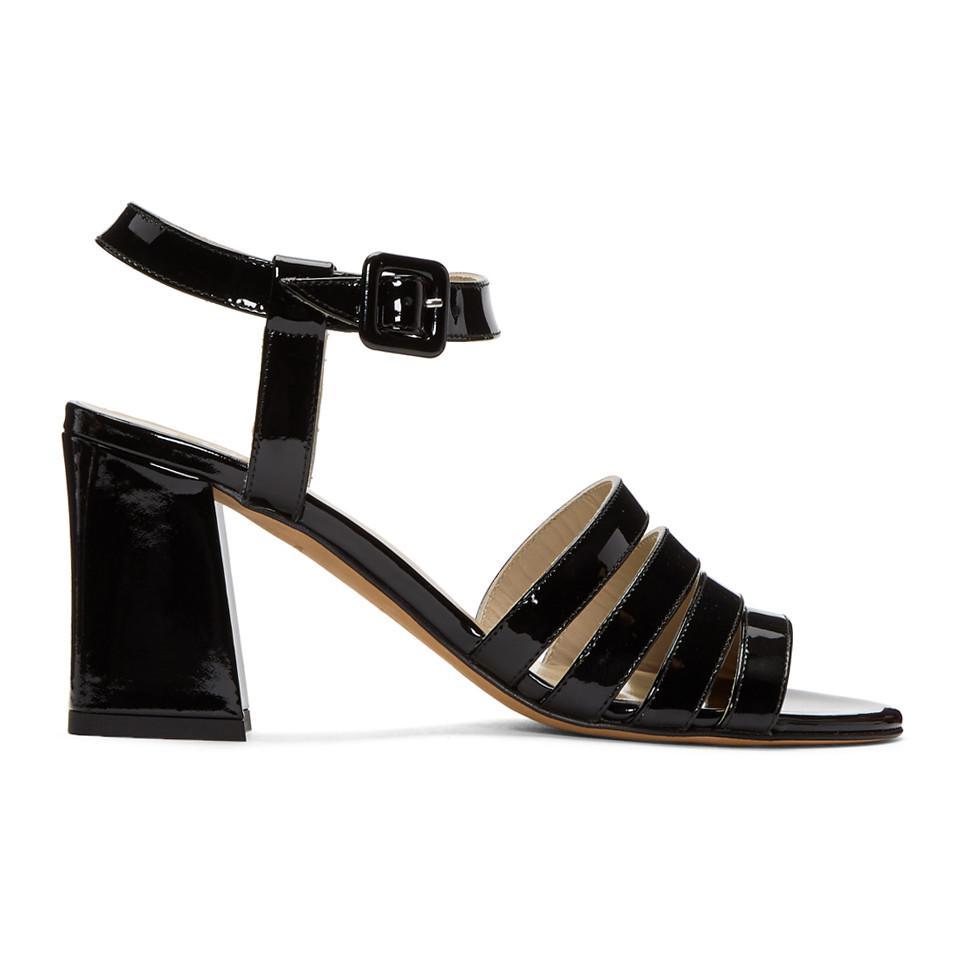 Maryam Nassir Zadeh Black Patent Palma High Sandals eN4Nmlumm