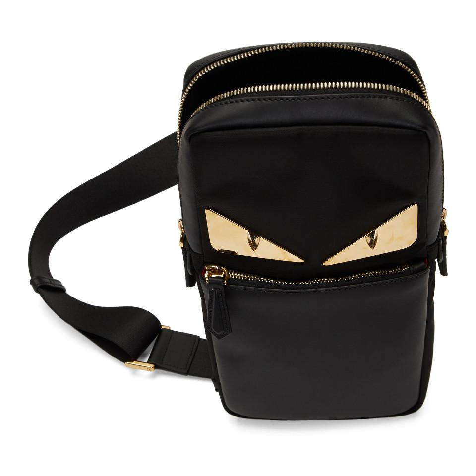 Fendi - Black Bag Bugs Golden Messenger Bag for Men - Lyst. View fullscreen aa5a40625f2c1