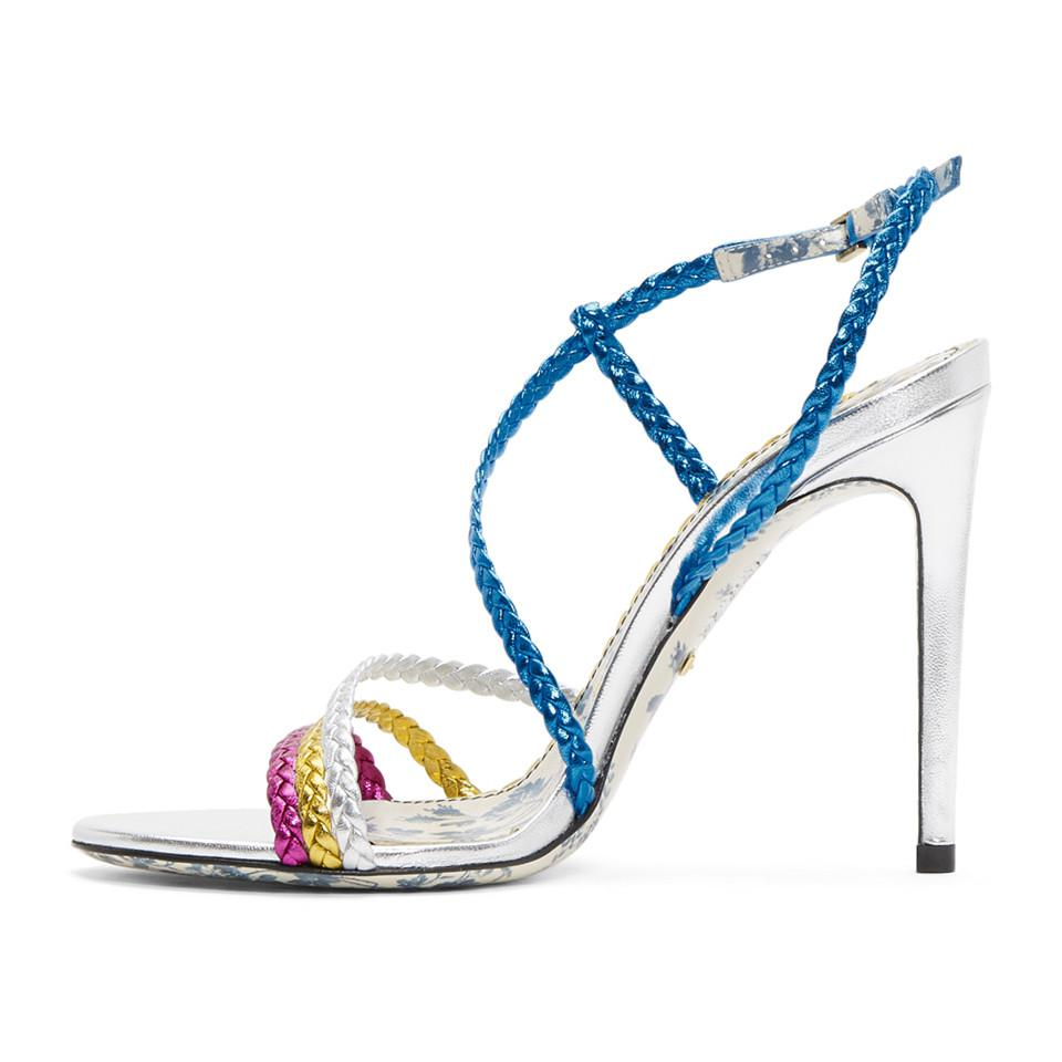 Chloé Multicolor Braided Haines Sandals 6KAC0