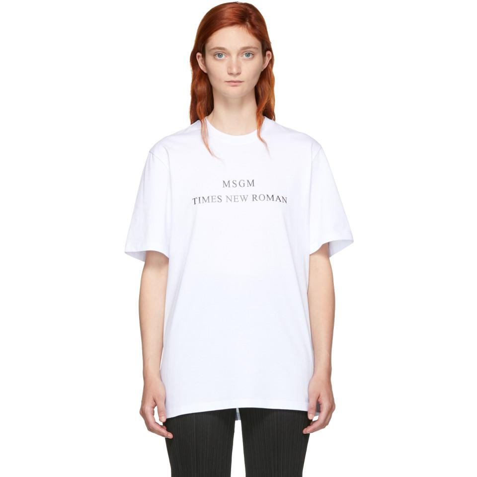 Browse Sale Online MSGM Times New Roman T-shirt Buy Cheap Price RPE7qrH