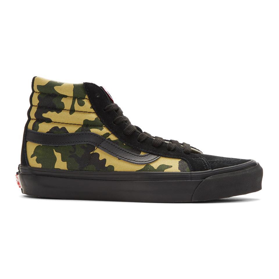 dcd4c12f865649 Vans Black And Green Camo Og Sk8-hi Lx High-top Sneakers for Men - Lyst