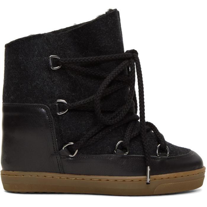 Isabel Marant Grey Sheepskin Nowles Boots rQzBLwwe7
