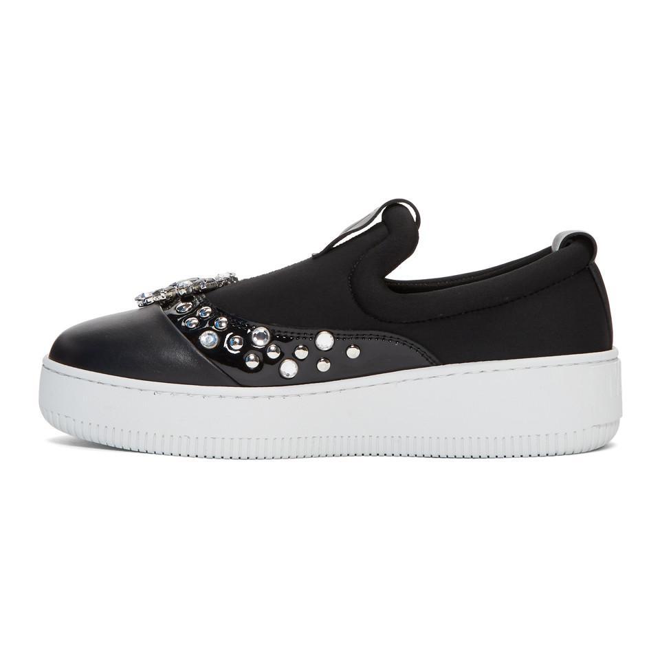 Nike Black Netil Slip-On Sneakers HG0G1s0k5W