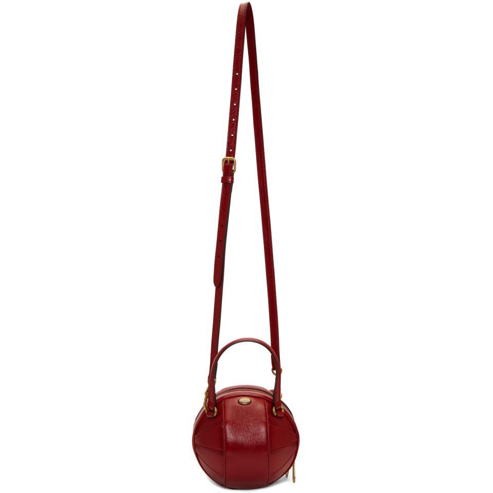 b5bc5886d6b8 Gucci Red Mini Tifosa Ball Tote in Red - Lyst