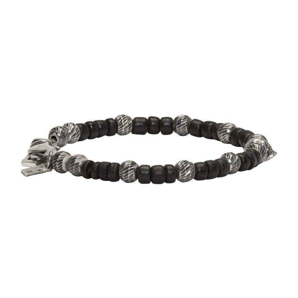 beaded bracelet - Black Emanuele Bicocchi zY84ig6