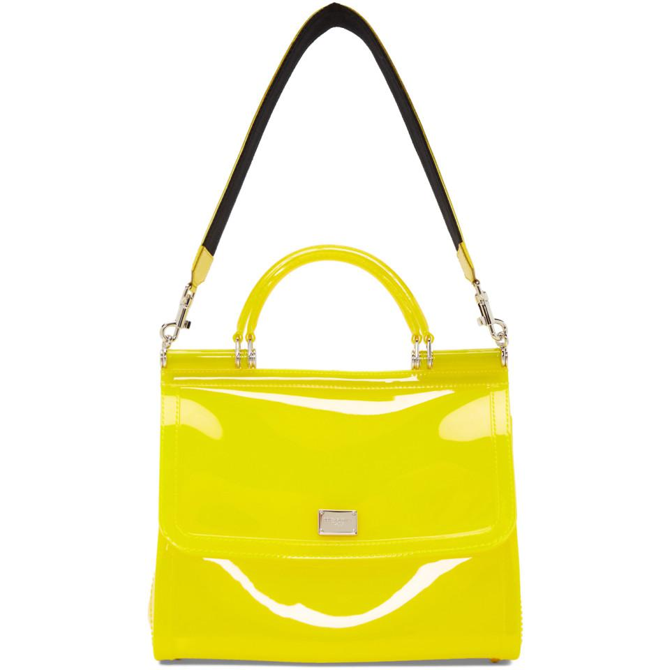 70e38cccc2a3 Lyst - Dolce   Gabbana Yellow Small Rubber Miss Sicily Bag in Yellow