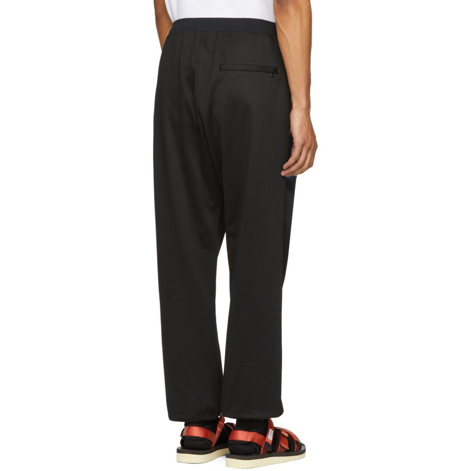Black Rib Football Track Lounge Pants Facetasm Cheap Professional Buy Cheap Looking For Buy Cheap With Paypal Deals Sale Online Free Shipping Factory Outlet VV52Dk