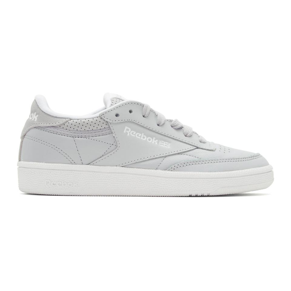 489c3c46d51 Lyst - Reebok Grey Club C 85 Perforated Sneakers in Gray - Save 36%