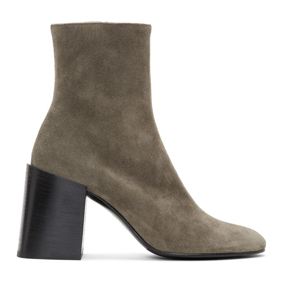 Acne Taupe Suede Saul Reverse Boots e22mIDUbI