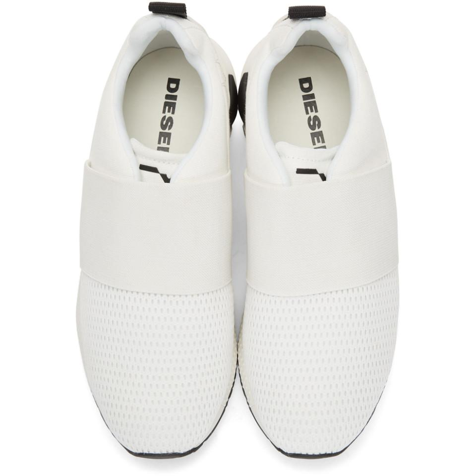 Discount Best Store To Get Outlet Supply White S KB Elastic Sneakers Diesel Cheap Outlet Locations Gi0NRKtr