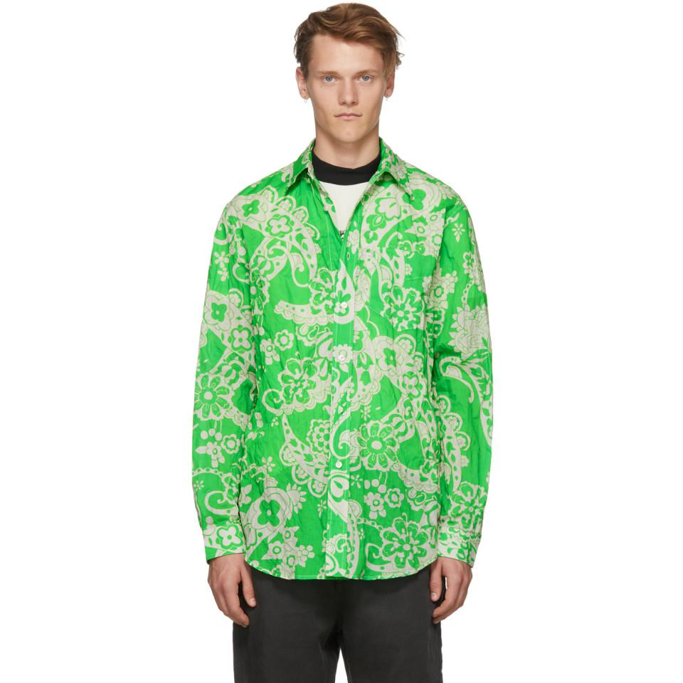 Cheap Sale Explore Discount Newest Green Paisley Super Shirt 5T7MR75t