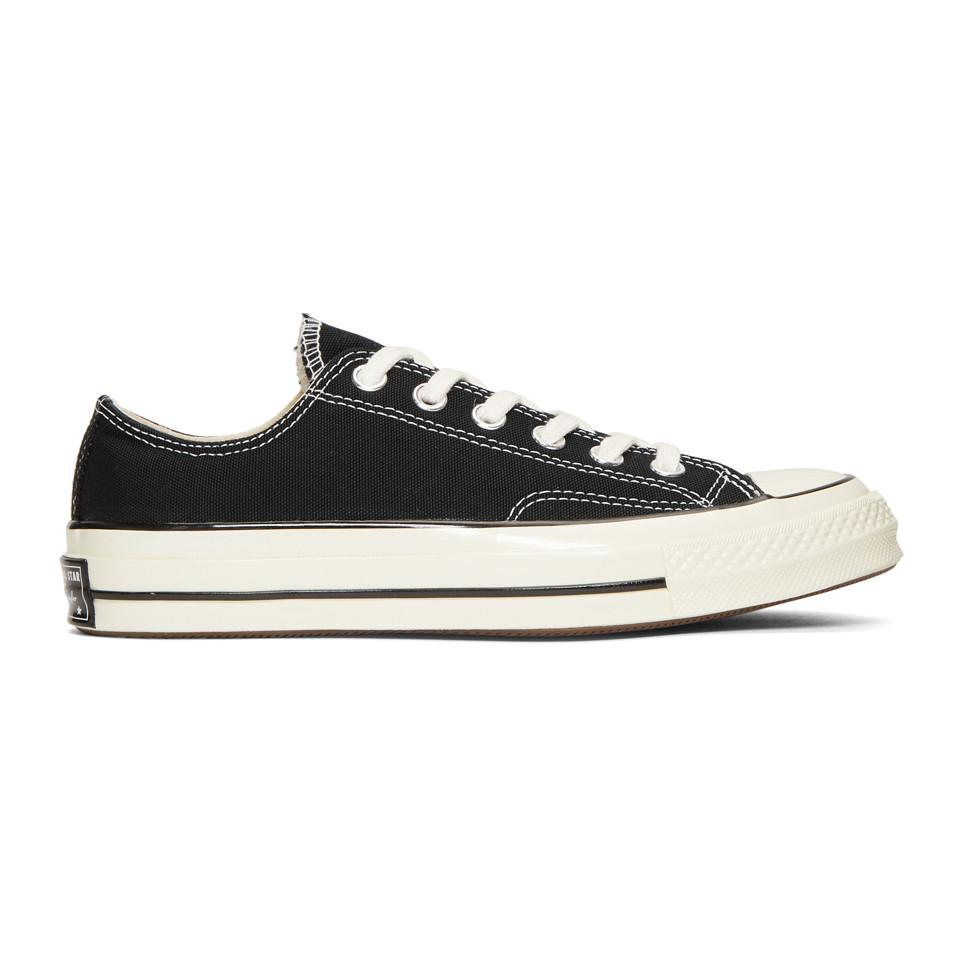 1c53512bf81 Lyst - Converse Black Chuck 70 Low Sneakers in Black for Men