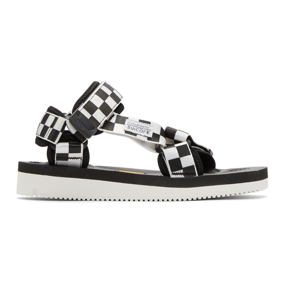9830f89a12a4 Suicoke Black And White Depa-v2 Sandals in Black for Men - Lyst