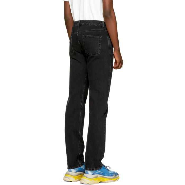 Black Five-Pocket Jeans From China Free Shipping Discount Inexpensive Clearance Visa Payment Factory Outlet ycasTJNg4