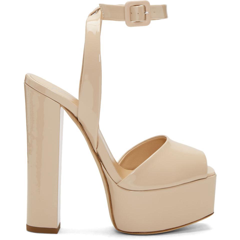 4a4b25a7f59 SSENSE Pink Zanotti Exclusive Sandals Patent Giuseppe Lavinia Platform  SApSWqrH