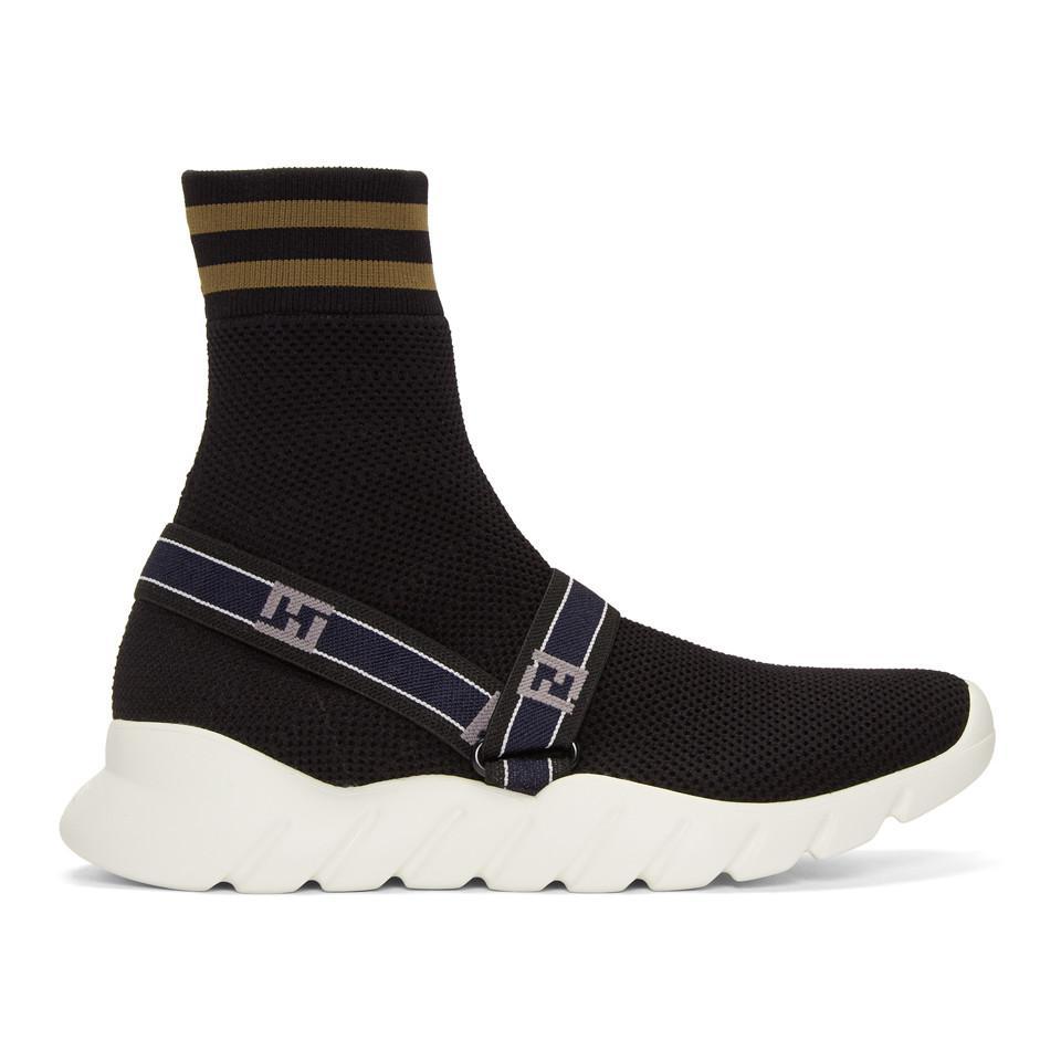 Fendi Sock Knit High-Top Sneakers SzLV1mY7CP