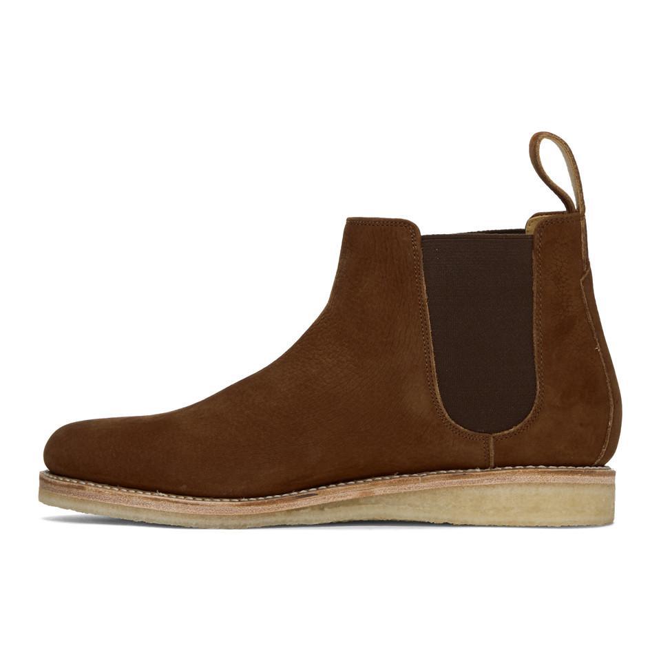 Rick Owens Brown Nubuck Heath Chelsea Boots
