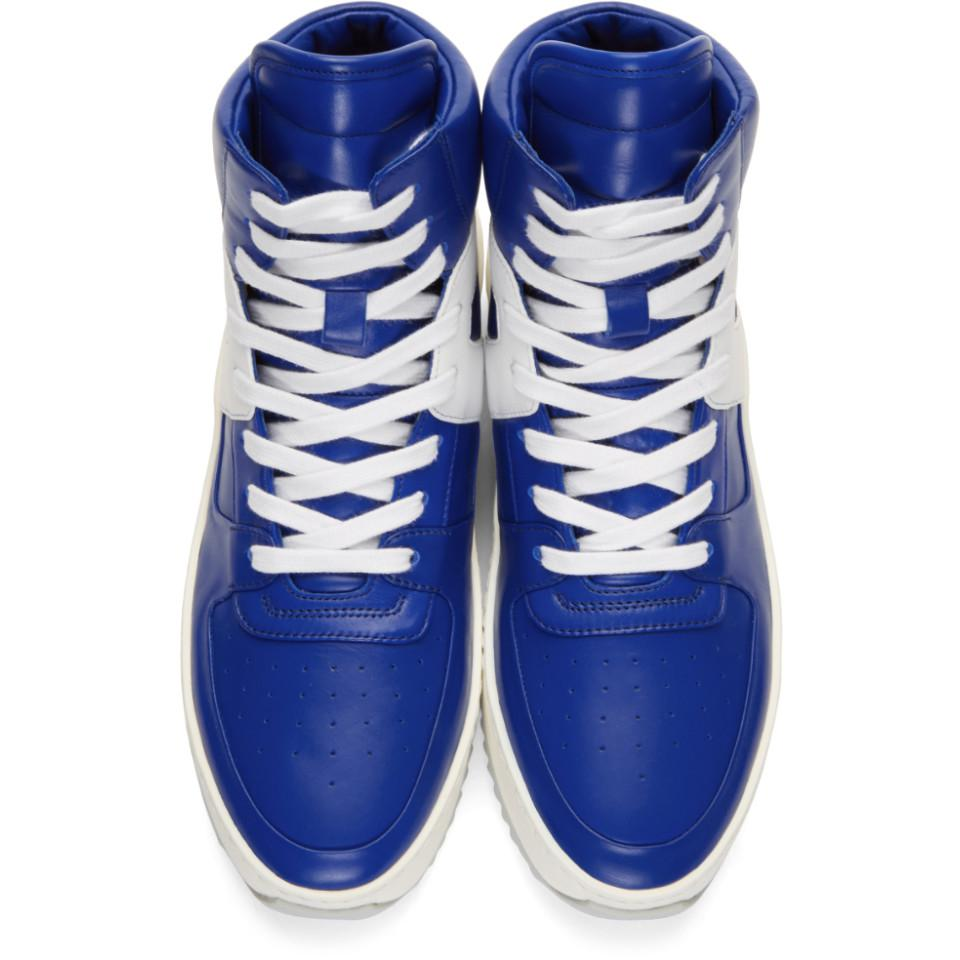 SSENSE Exclusive Blue and White Basketball High-Top Sneakers Fear of God LiYlSD