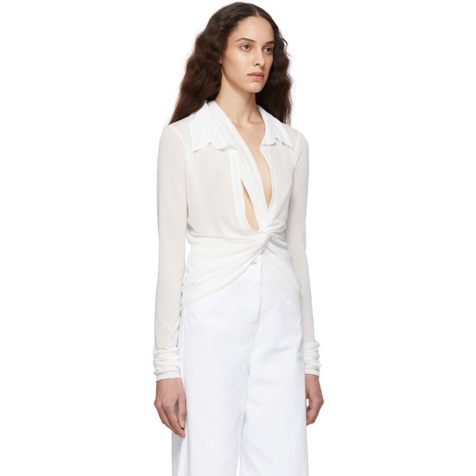 86f4eed6bd5 Jacquemus - White La Chemise Bellagio Shirt - Lyst. View fullscreen