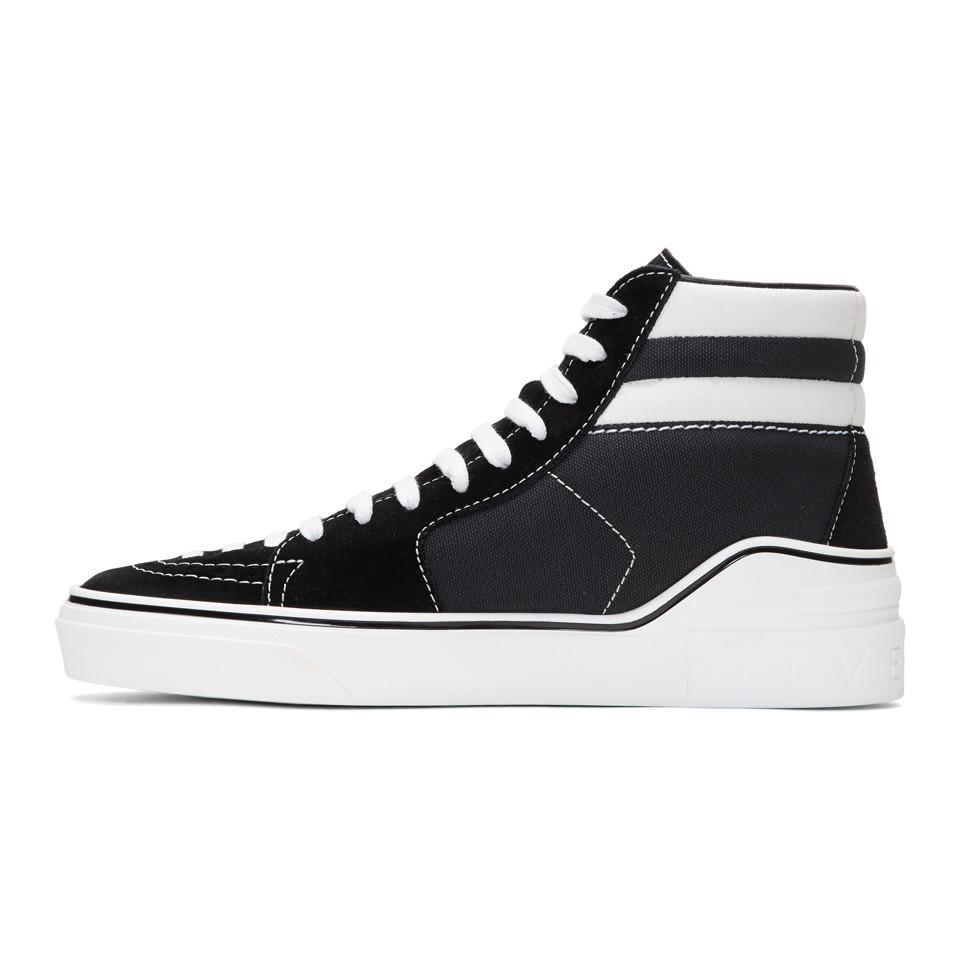 Givenchy Suede & Canvas Mid-Top Sneakers