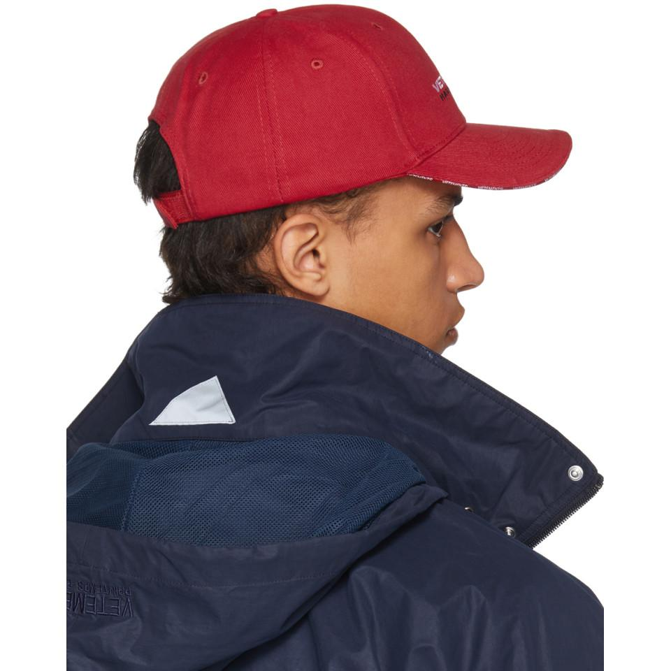 Red Haute Couture Logo Baseball Cap VETEMENTS 1HAWvLg