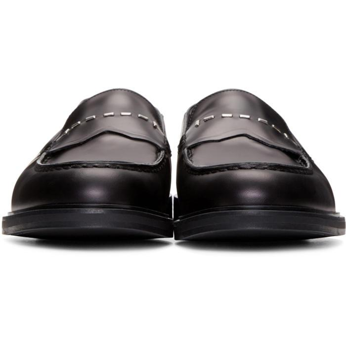 Lyst - Fendi Black Convertible Loafers in Black for Men cbbcbf46bd214