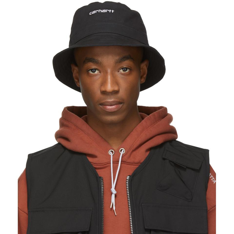 6d62a1d5 Carhartt WIP Black Script Bucket Hat in Black for Men - Lyst