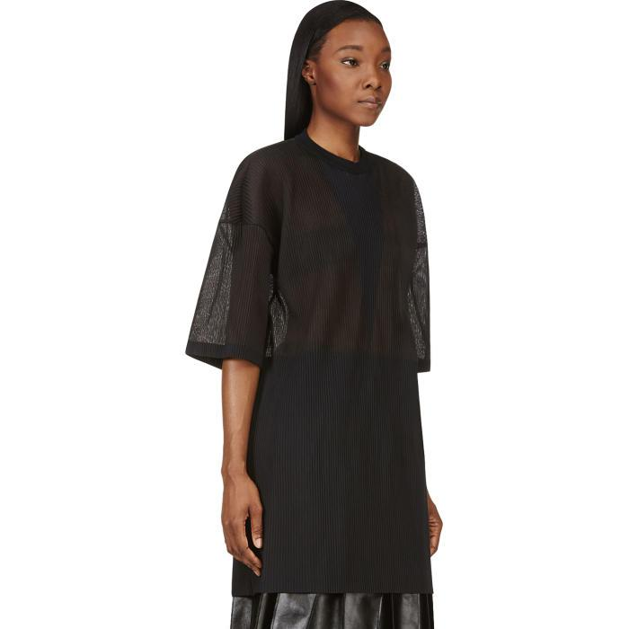 Sale Cheapest Where Can You Find Charcoal Grey Micro Pleat Intarsia Oversize Top Calvin Klein 2018 For Sale DtgcEJ