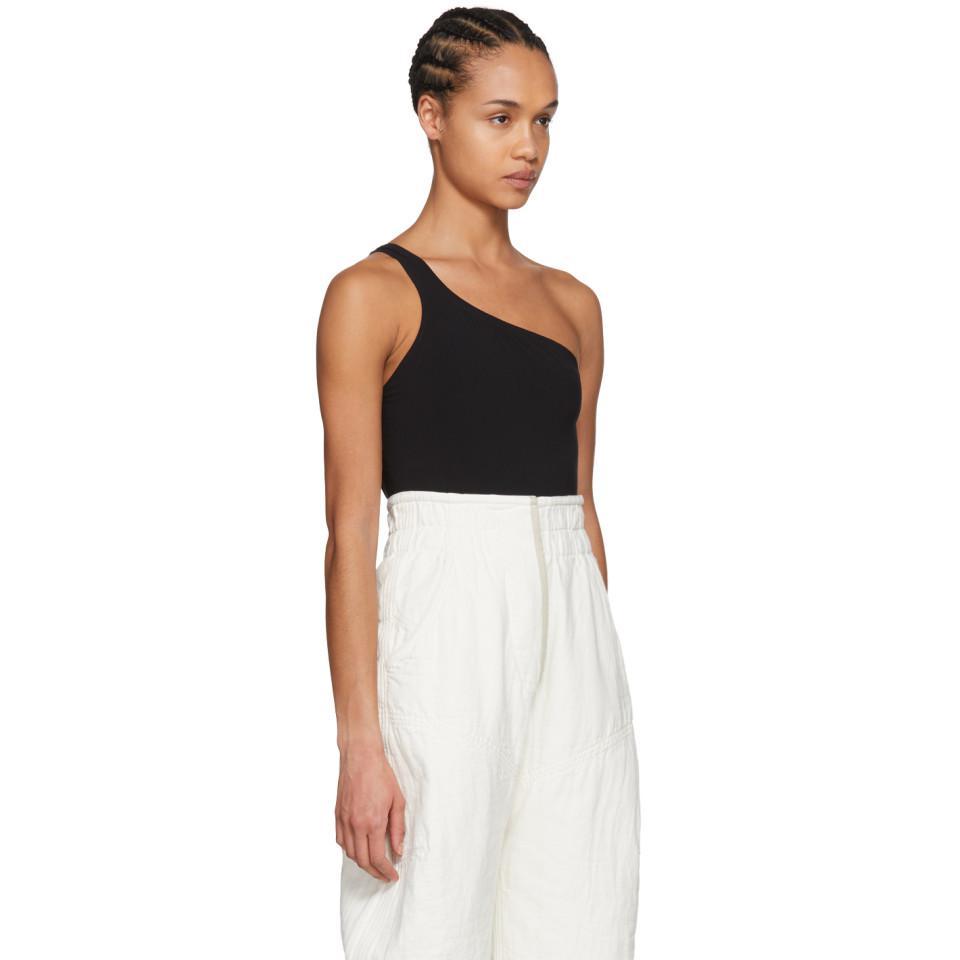 5a020202dd Isabel Marant Black Sage Single-shoulder Bodysuit in Black - Lyst