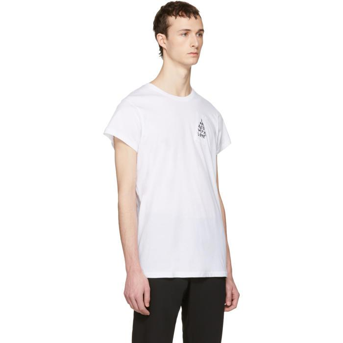 86b1b9009fc Lyst - Ann Demeulemeester White  i Am Red With Love  T-shirt in ...